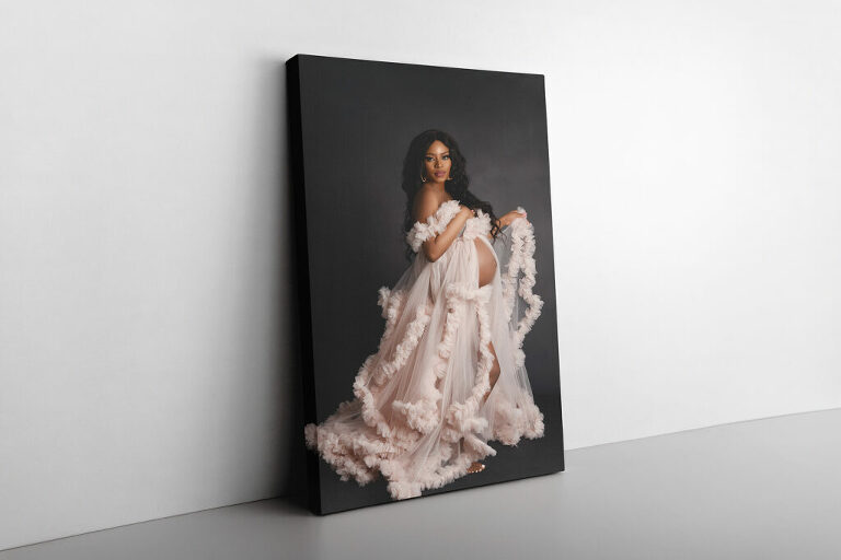 Canvas gallery wrap maternity session photographic print by Dallas / Fort Worth Maternity, Newborn, and Children's Photographer Chaunva LeCompte Photography